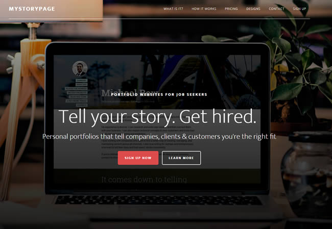 Hello MyStoryPage! Websites to help you tell your story & get hired