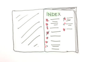 index note taking method