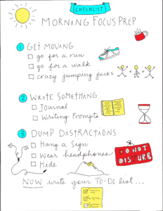 Checklist for getting focused in the morning