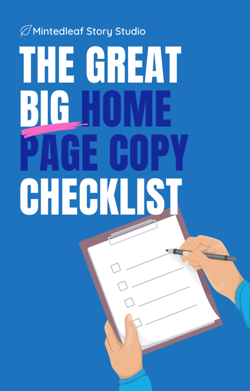 The Great big home page copy checklist